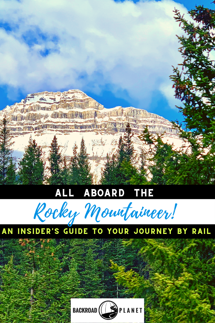 Rocky Mountaineer Train Pinterest Image - All Aboard the Rocky Mountaineer! An Insider's Guide to Your Journey by Rail